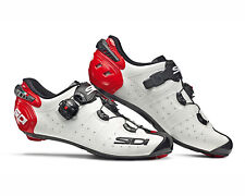SIDI Wire 2 Carbon Road Cycling Shoes - White/Black/Red [Size: 38~47 EUR]