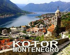 Montenegro - KOTOR - Travel Souvenir Flexible Fridge Magnet