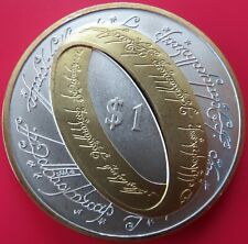 2003 LORD OF THE RINGS COIN SILVER GOLD STAR WARS SCI-FI FANTASY NEW ZEALAND UK