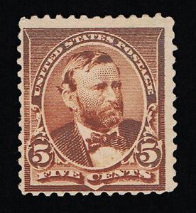GENUINE SCOTT #223 MINT OG NH 1890 ABNC PRINTING 5¢ CHOCOLATE - ESTATE SALE