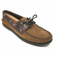 Men's Sperry Top-Sider Boat Shoes Sneakers Size 13 M Brown Leather Casual Moc T8