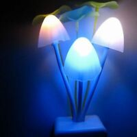 Plug Sense Illumination Colorful Sensor Home Bed Lamp LED Mushroom Light Night