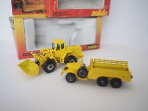 Pair Solido Toner Gam Dodge 6x6 Truck #2007 + Grader #3104 Construction