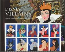 US 5213-5222 5222a Disney Villains forever header block set MNH 2017