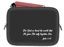 Black Bible Cover Case Travel Bag AngelStar John 3:16 Neoprene Church Gift New