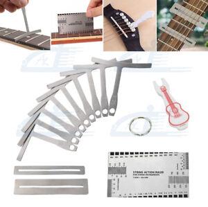 13 Part Understring Radius Gauge For Guitar Bass Setup Premium Luthier Tools Kit