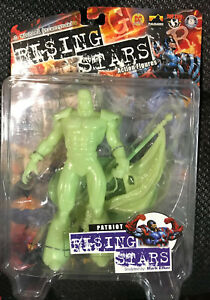 {New} RISING STARS - PATRIOT - GLOW IN THE DARK ACTION FIGURE 2000