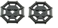 LEGO 2 X Black Parabolic Ring Rod Octagonal 2x2 Studs with Cut Edges NEW 30033