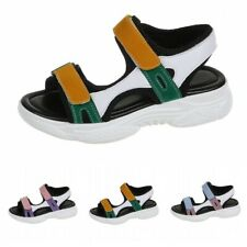 Summer Womens Wedge Sports Sandals Thick Bottom Slingback Beach Shoes Platform L
