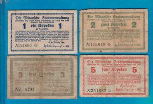 """1+2+3+5 Kopeken--Mitau--Lettland--""""Stadtverwaltung"""""""