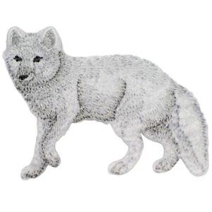 "Arctic Fox Applique Patch - White Dog 2.75"" (Iron on)"