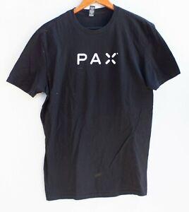PAX Men's Promo Short Sleeve T-Shirt Black Vape Size M
