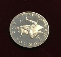 ***1981 Isle Of Man Platinum Proof One Pound Coin (Rare 1000 Minted),9g***