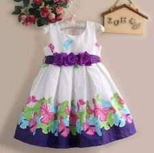 Baby Girl's Print Party Princess wedding Costumes Flower Dress Age 1-5 Years