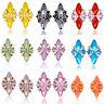 Charm Women Lady Rhinestone Resin Flower Ear Stud Eardrop Earring Jewelry Gift