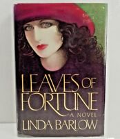 LEAVES OF FORTUNE Linda Barlow,1st Edition 1st Printing SIGNED BY AUTHOR HC DJ