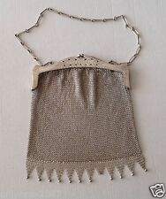 ANTIQUE  WONDERFUL 172gr. SILVER CHAINMAIL PURSE & BAG, 1930 YEARS!