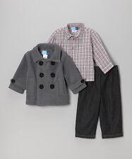 3 pièces garçons Vareuse veste, chemise et jeans fixé par Bon Garçon Âge 3 Ans BNWT
