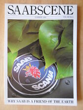 SAAB SCENE Official In-House Magazine Vol 12 No.2 1989 UK Mkt glossy brochure