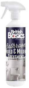 British Basics 500ml Bathroom Mould And Mildew Treatment Cleaner Shower Toilet