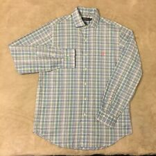 Polo Ralph Lauren Baby Blue/Meadow Green Plaid LS Shirt (M)