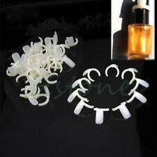 50Pcs New Natural Nail Art Ring Nail Tips UV Gel Plate Color Pops Display Style
