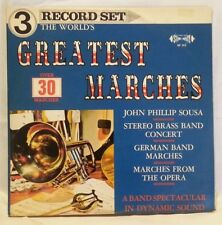 THE WORLD'S GREATEST MARCHES - vintage vinyl LP -  '3' Record Set ** RARE **