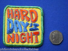 Hard Day's Night  Cloth Badge/Patch     1970s