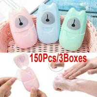 50 pcs Disposable Boxed Paper Soap Travel Portable Hand Washing Box Scented New