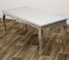 BAROQUE table à manger argent-Finish environ 180 cm Dining Table, Table de cuisine, salle à manger table