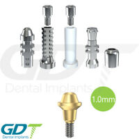 Straight Multi Unit 1.0mm Set For Conical RP Active Hex Dental Implants