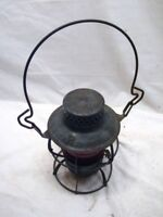 Dressel PRR RR Railroad Train Lantern Red Glass Globe Lamp Kerosene Light