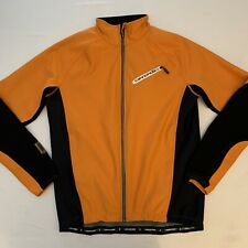 Cannondale Mens Full Zip Mid Weight Cycling Jacket Orange/Black Medium Quadte