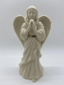 "Lenox 6"" Praying Angel White Porcelain With Gold Trim Inspirational"