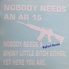 Funny Gun Decal AR15 Pro 2nd Amendment Military Police Car Truck Window Sticker