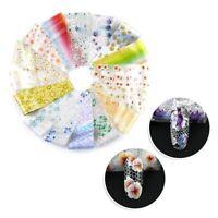 de 16 tlg. / Set Folie Blumenmuster Nagel Transfer Sticker Maniküre Deko eNw Ksy