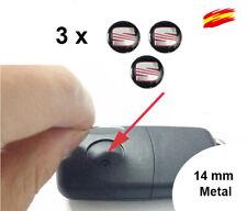 3 x  Metal  Emblemas Logo Pegatinas 14 MM  compatible para SEAT Llave Mando