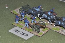 28mm Unione ACW/- GUERRA CIVILE AMERICANA 1 PISTOLA & BISCIA D'ARTIGLIERIA-Arte (21757)