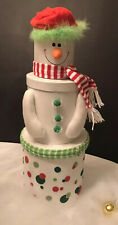 SNOWMAN STACKING NESTING BOXES Christmas Decorations Gift Baskets Box with Lid