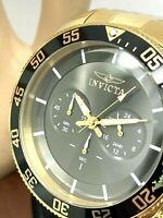 Invicta Men's Watch 30060 Pro Diver Gold Tone Steel Chronograph 48mm Black Dial