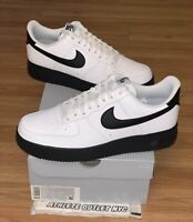 New Nike Air Force 1 Low White Black Men's Size 10.5 Athletic Sneaker CK7663-101