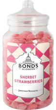 BONDS - STRAWBERRY SHERBETS - 1.7KG JAR, BOILED SWEETS, GIFT JAR, CHRISTMAS,XMAS