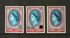 TURKS & CAICOS 1967-71 DEFS. UP/SW WMKS £ OVPTS $ COMPLETE MNH