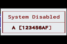HP System Disable password reset service, 8-hex starting with ( A ). Fast!!!