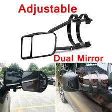 Adjustable Clip-on Flat & Convex Glass Towing Mirror For Caravan Car Trailer