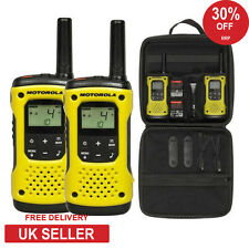 MOTOROLA TLKR t92 h2o Walkie Talkie Radio Twin Pack ip67 Torcia LED IMPERMEABILE