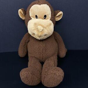 Koala Baby Brown Monkey Plush Tan Face Stuffed Animal Sewn Eyes Sherpa Lovey