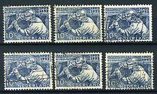 NEDERLAND 582 gestempeld 1952 - 50 jaar Nederlandse staatsmijnen (6 stuks)