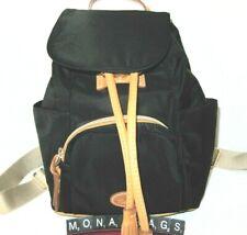 Dooney & Bourke Miramar Medium Murphy Nylon Backpack Black Leather Trim NWT $198