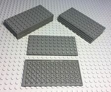 Lego X10 New Dark Bluish Gray 6x12 Plate / Bulk Building Parts Lot